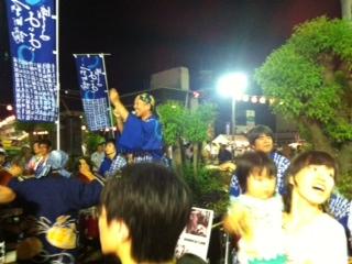 新町橋の阿波踊り2013